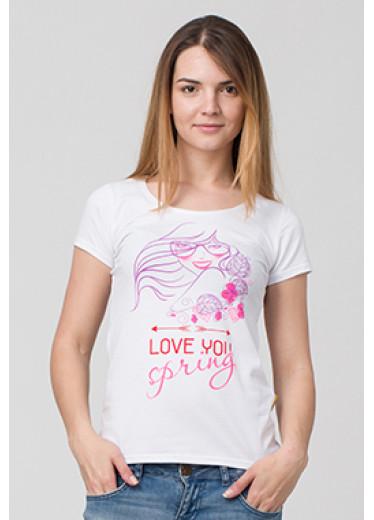 6106 Футболка - Love you spring (4 кольори)