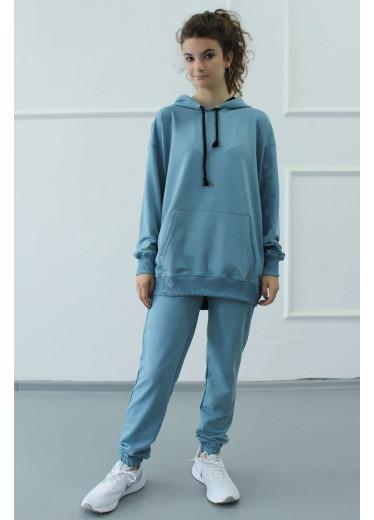 1570/1386 Спортивный костюм NEW (джинс)