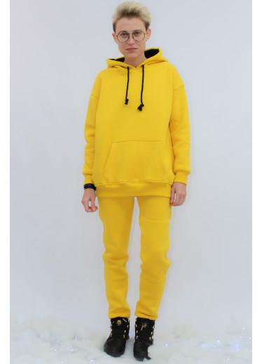 672-351 Теплий Спортивний Костюм (жовтий)