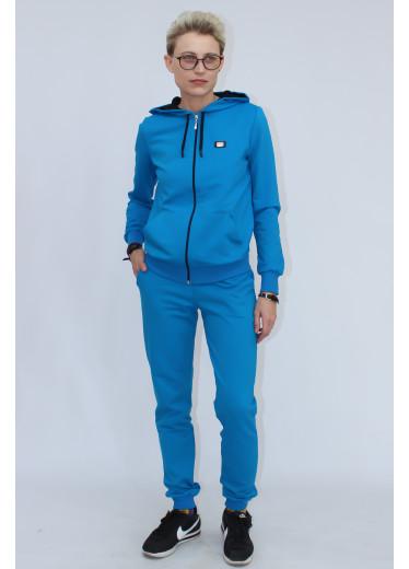 05530 Костюм спортивний на змійці (блакитний)