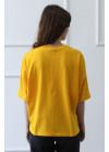 1261 Футболка з принтом Балерина (жовта)