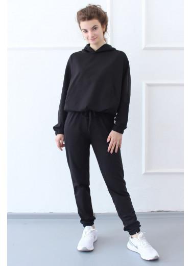 1585/1385 Спортивний костюм NEW (чорний)